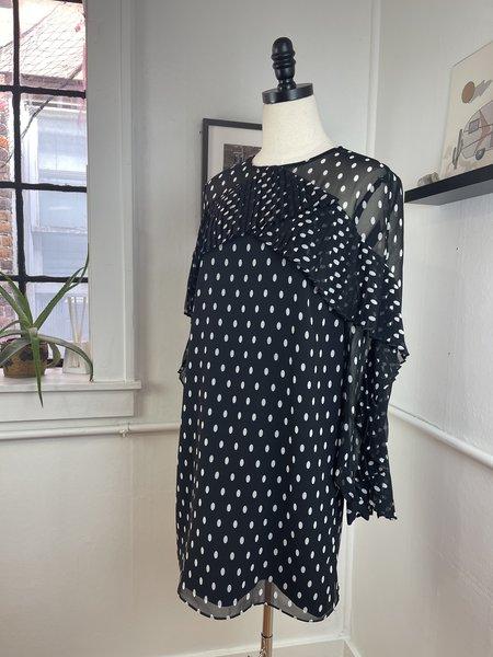 [pre-loved] Keepsake Ruffle Polka Dot Dress - Black/White