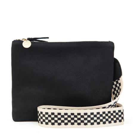 Clare V. Crossbody Strap - Black/Cream Checker