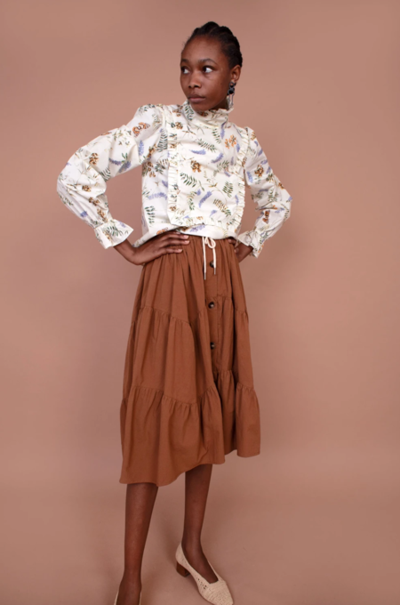 Meadows Thyme Skirt - Biscuit