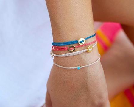 Scosha Turquoise Bezel Bracelet - Pink