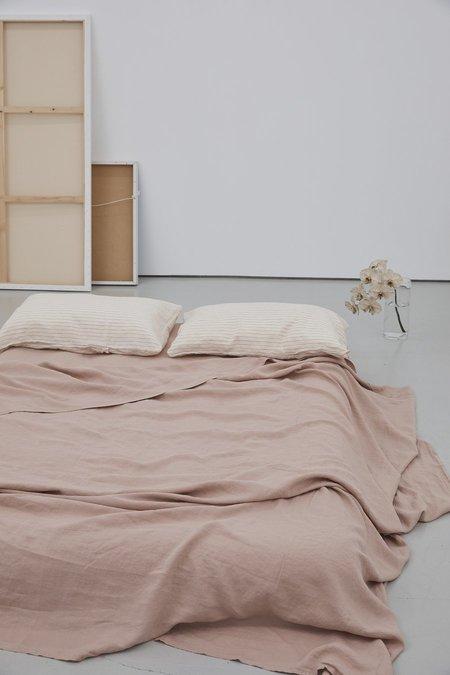 Deiji Studios Flat Sheet - Clay Pink