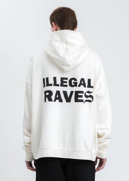 Salon Des Refuses Illegal Rave Hoodie - White