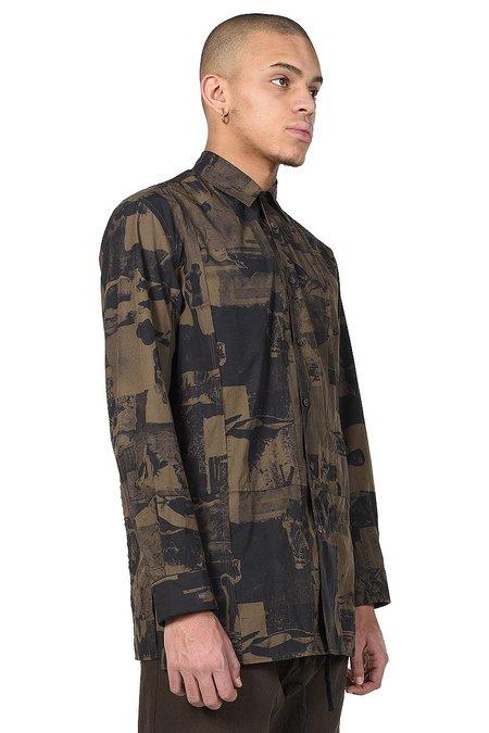 Ziggy Chen Graphic Print Shirt - Black/Brown