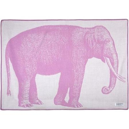 kids thomas paul elephant baby throw - pink