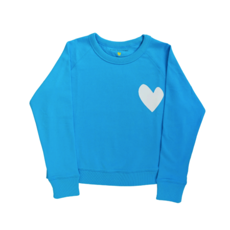 Kerri Rosenthal Imperfect Heart Sweatshirt - True Blue