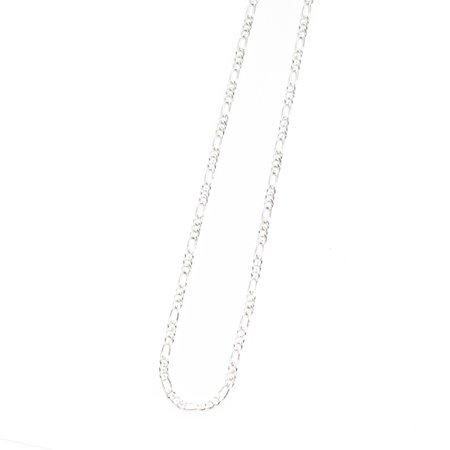 MAPLE FIGARO CHAIN NECKLACE - SILVER 925