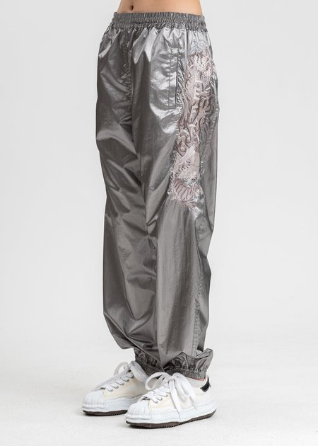 Doublet Gradation Chaos Embroidery Track Pants - Grey