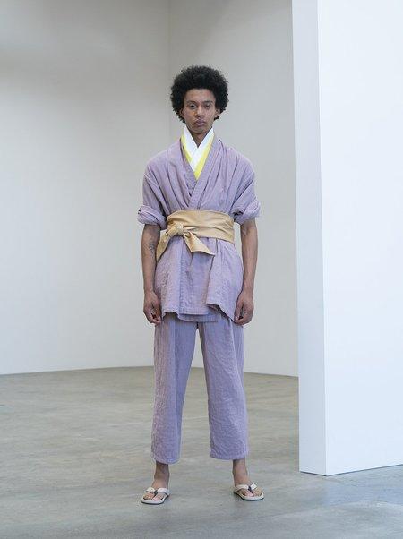 Atelier Delphine Haori Cotton Coat - Desert Lavender