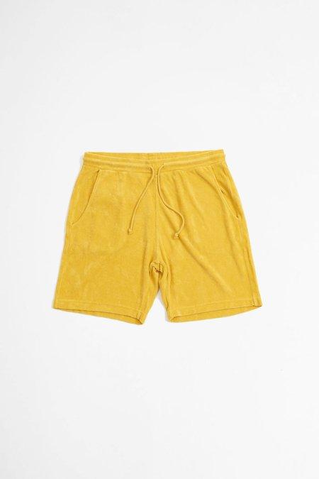 Universal Works Terry Fleece Beach Shorts - Gold