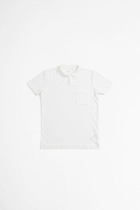 Universal Works Terry Fleece Vacation Polo Shirts - Ecru