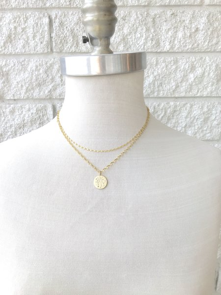 Ela Rae Double Layer Sprinkle Disc Necklace