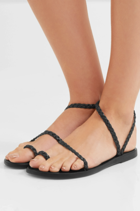 Ancient Greek Eleftheria Sandals - black