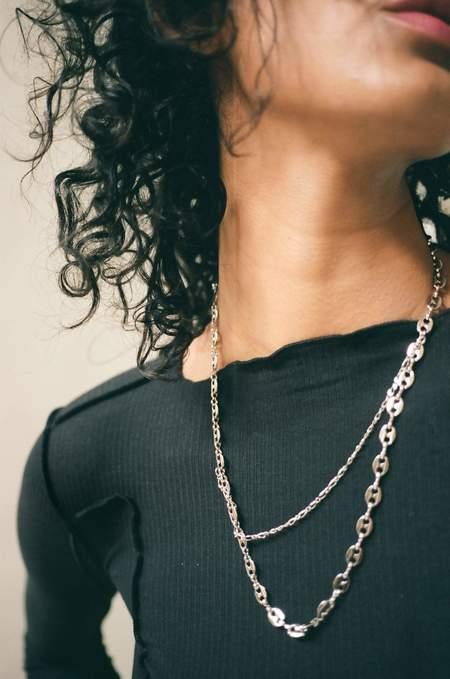 Justine Clenquet Alexis Necklace - brass/palladium