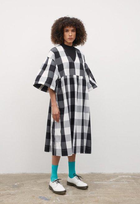 Kowtow Yoshi Check Dress - Black/White