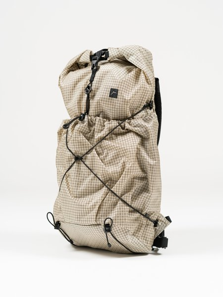 CAYL Gaya Rolltop B-Grid bag - Solid Beige