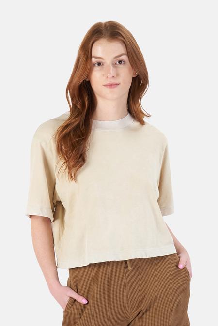 Cotton Citizen Tokyo Crop T-Shirt - Vintage Oatmeal
