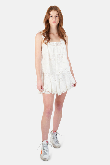 LoveShackFancy Briella Skirt - White
