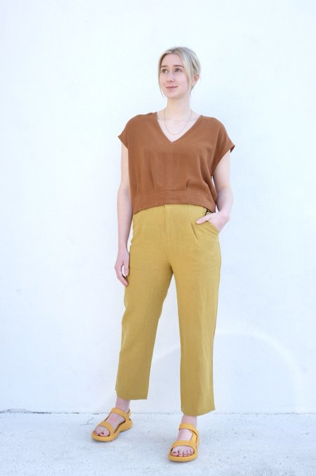 Eve Gravel Mercure Top - Copper