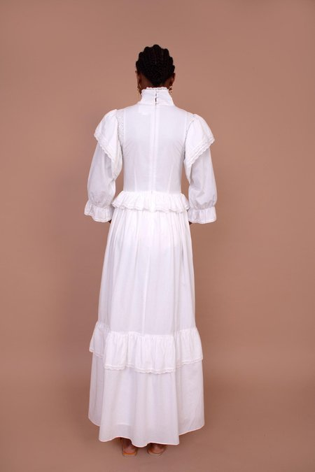 Meadows Bellflower Dress - White