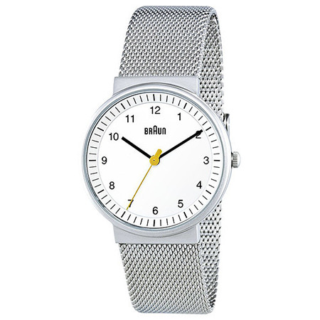 BRAUN CLASSIC LADIES WATCH QUARTZ 3 HAND MOVEMENT / SILVER