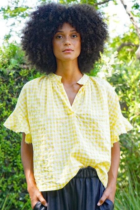 AqC ANNA top - yellow gingham