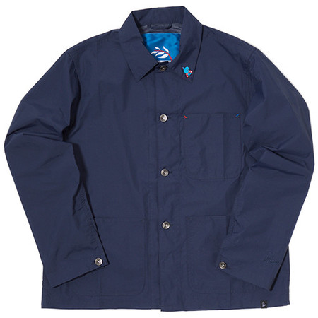 BY PARRA NYLON WORKER SHIRT / NAVY BLUE