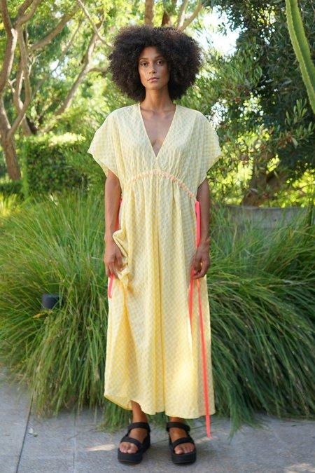 AqC Venus Dress - Yellow Gingham