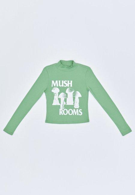 Perks and Mini Novae Mush Rooms Ribbed Long Sleeve - pistachio