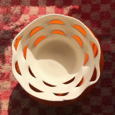 Closed Mondays Cracked Basin Basket - cream