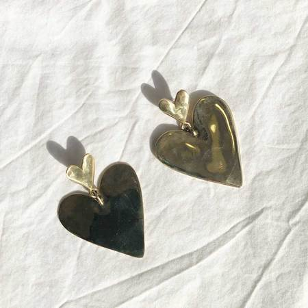 Luiny Full Heart Earrings - sterling silver