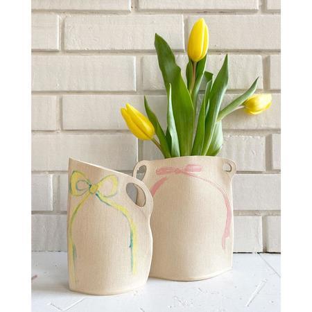 Alison Owen Pastel Ribbon Vase