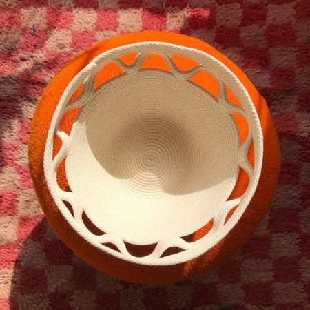 Closed Mondays Ripple Bowl Basket