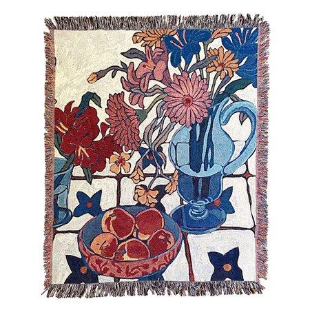 Sarah Ingraham White Still Life Blanket