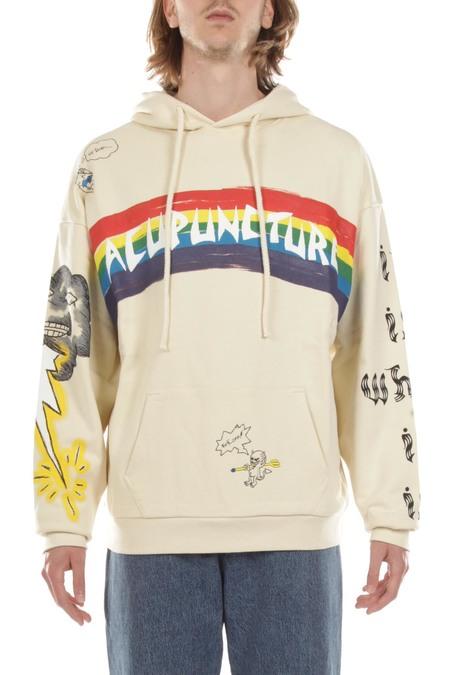 ACUPUNCTURE RAINBOW sweater - cream