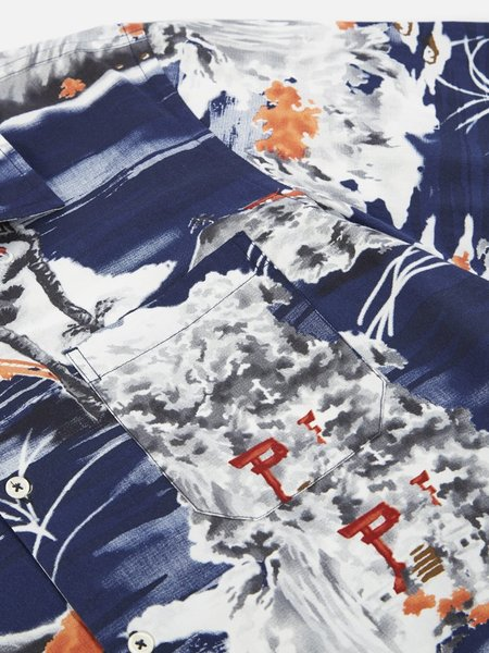 Universal Works Fuji Summer Road Shirt - Navy