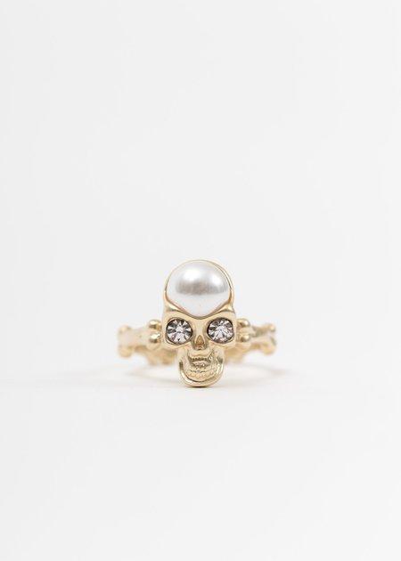 EVAE Pearl And Skull Ring