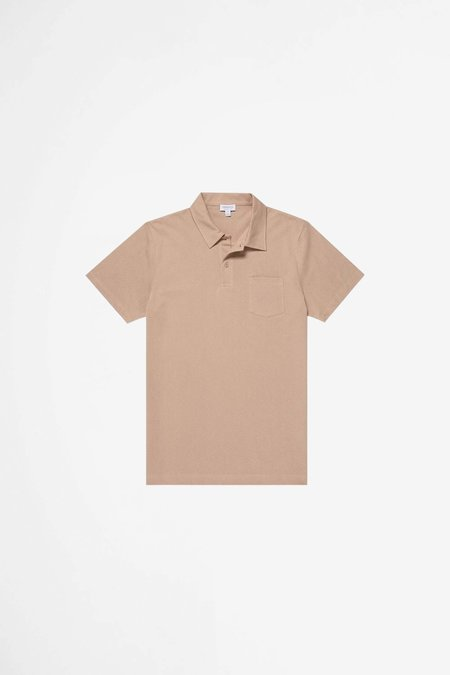 Sunspel Riviera Polo Shirt - Cashew