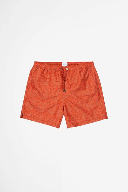 Sunspel Swim Short - Cross Hatch Burnt