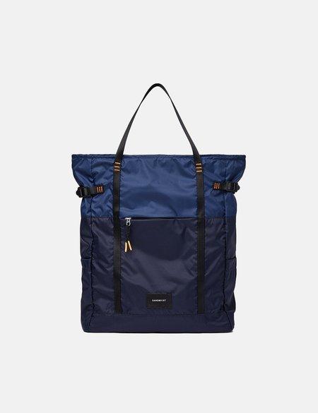 Sandqvist Roger Lightweight Backpack - Navy Blue/Evening Blue