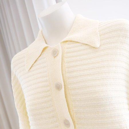 Rus Jisho Polo Sweater - Eggshell
