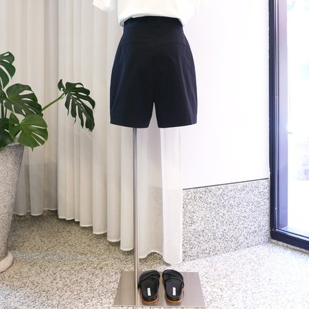 Studio Nicholson Powder Cotton Shorts - Black