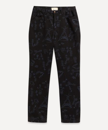 Paloma Wool Veneno Printed Pant - Black