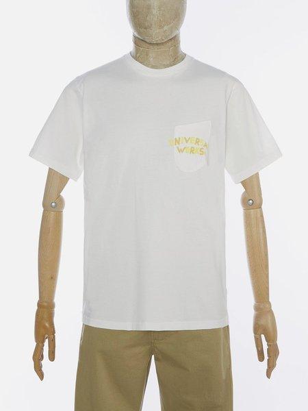 Universal Works Print Pocket T-Shirt - Ecru
