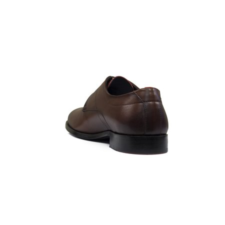 Hugo Boss Midtown Derby Leather Shoes - Brown