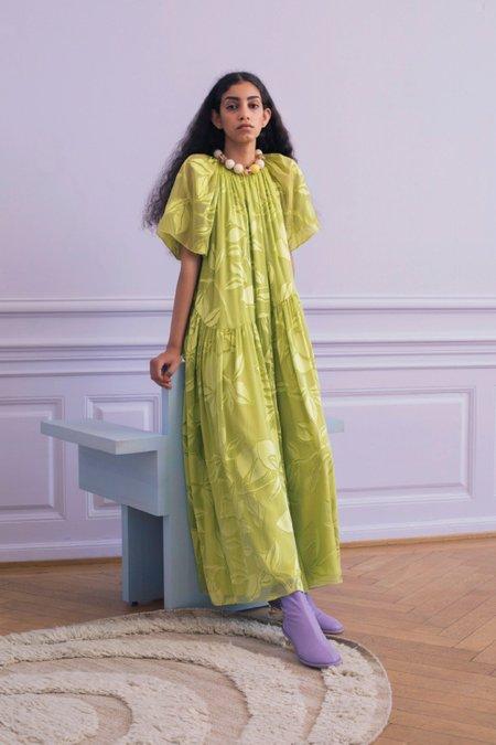 Stine Goya Addyson Dress - Lemon Green