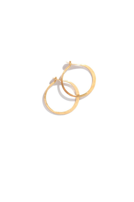 Melissa Joy Manning Small forged round hoops - 14kt gold