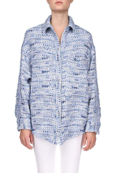 Iro Canelle Overshirt Jacket - Denim Blue