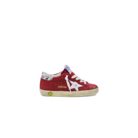 Kids Golden Goose Superstar Suede Sneakers - Red/Camouflage