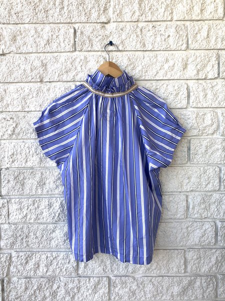 a shirt thing STELLA STRIPE TOP - BLUE