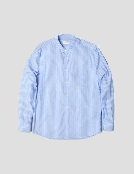 Kapatid NYC Band Collar Shirt - Blue/White